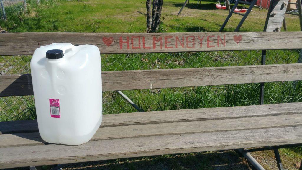 Kanne på velkrakken i Holmenbyen