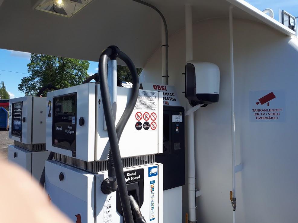 Dieselpumpa til BMT på Auten i Aurskog